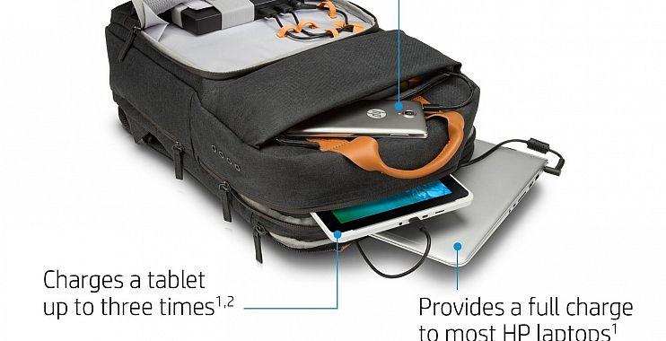إتش بي تقدم HP Powerup Backpack حقيبة ظهر لشحن الحاسب المحمول