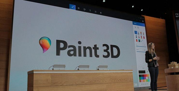 مؤتمر #مايكروسوفت : الإعلان عن برنامج الرسام الجديد Paint 3D بتقنية ثلاثي الأبعاد