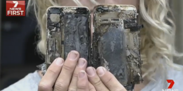 ليس فقط هاتف نوت 7 يتمتع بميزة الاحتراق بل إن آيفون 7 يمتلك نفس الميزة!!